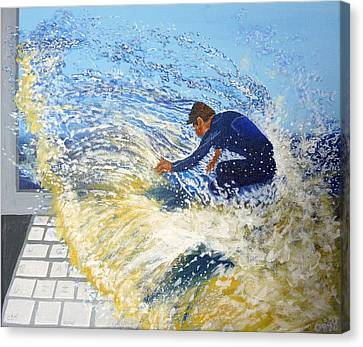 Surfing The Net Canvas Print by Bill Ogg