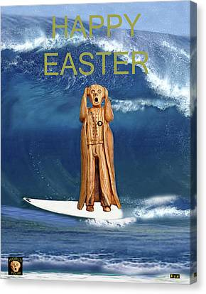 Surfing The Scream World Tour Happy Easter Canvas Print