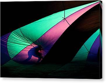 Surfing The Silk Canvas Print by Mike  Dawson