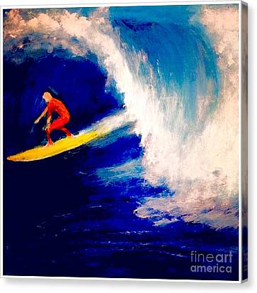 Big Kahuna Canvas Print -  Surfing The Tube  by Scott French