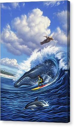 Canvas Print - Surf's Up by Jerry LoFaro