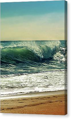 Canvas Print featuring the photograph Surf's Up by Laura Fasulo