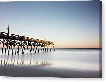 Surfside Beach Pier Mathew Aftermath Canvas Print by Ivo Kerssemakers