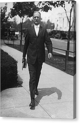 Healthy-lifestyle Canvas Print - Surgeon General Walks To Work by Underwood Archives
