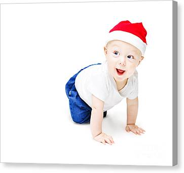 Surprise Christmas Baby Canvas Print by Jorgo Photography - Wall Art Gallery