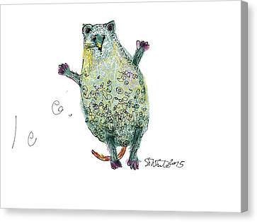 Surprised Mouse With Curly Hair  Canvas Print