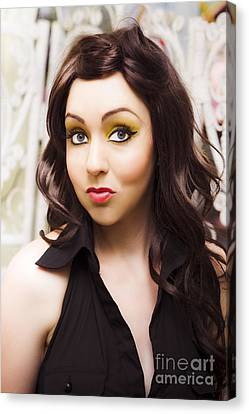 Surprised Sixties Fashion Woman Canvas Print by Jorgo Photography - Wall Art Gallery