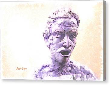 Shower Head Canvas Print - Surprising - Da by Leonardo Digenio