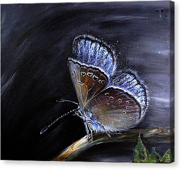 Surreal Common Blue Canvas Print by Tanya Byrd