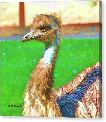 Surreal Emu Canvas Print