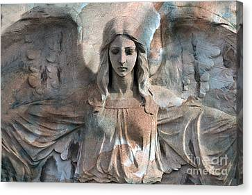 Surreal Fantasy Dreamy Angel Art Wings Canvas Print by Kathy Fornal