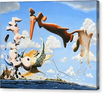 Surreal Friends Canvas Print by Dave Martsolf