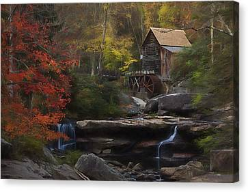 Surreal Glade Creek Canvas Print