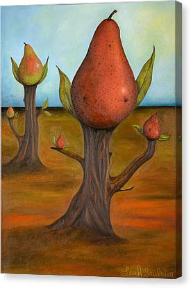 Surreal Pear Trees 4 Canvas Print