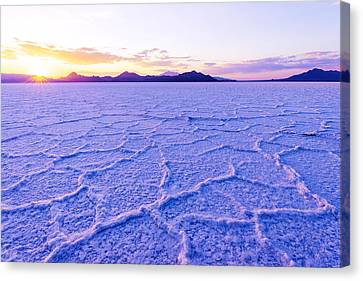 Salt Flats Canvas Print - Surreal Salt by Chad Dutson