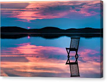 Calming Canvas Print - Surreal Sunset by Gert Lavsen