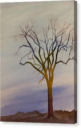 Surreal Tree No. 1 Canvas Print by Debbie Homewood