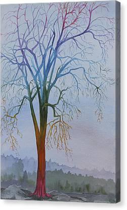 Surreal Tree No. 3 Canvas Print by Debbie Homewood
