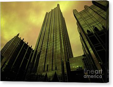 Surreal View Of Ppg Plaza Pittsburgh Canvas Print by Amy Cicconi