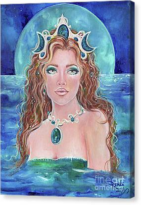 Surrender To The Sea Mermaid Canvas Print by Renee Lavoie