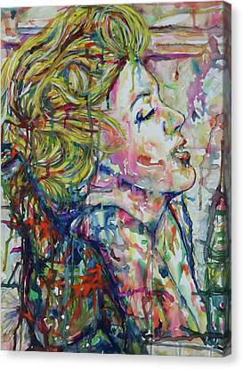 Surround Marylin Canvas Print by Joseph Lawrence Vasile