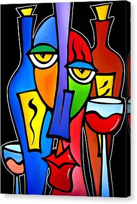 Surrounded - Original Pop Art By Fidostudio Canvas Print by Tom Fedro - Fidostudio