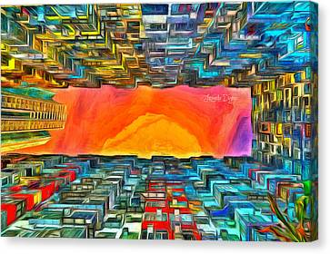 Surrounded By Buildings - Pa Canvas Print by Leonardo Digenio