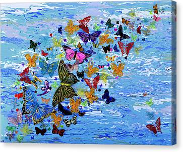Glass And Metal Art Canvas Print - Surrounded By Strangers by Donna Blackhall