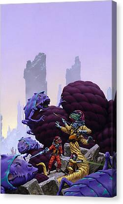 Surrounded Canvas Print by Richard Hescox