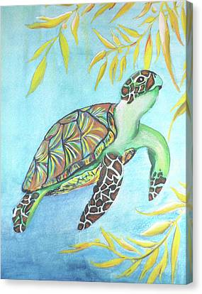 Turtle Shell Canvas Print - Survival by Christy Scholl