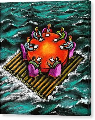 Bonding Canvas Print - Survival Of Bureaucracy  by Leon Zernitsky