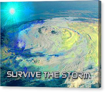 Survive The Storm Canvas Print