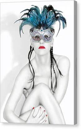 Survivor Art Canvas Print - Survivor - Self Portrait by Jaeda DeWalt