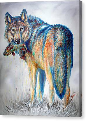 Survivor Canvas Print by Teshia Art