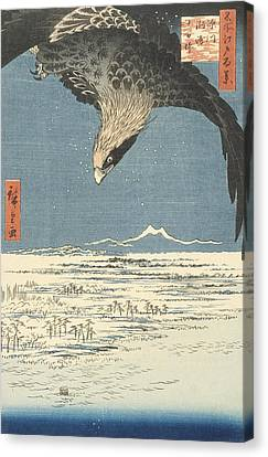 Susaki And The Jumantsubo Plain Near Fukagawa Canvas Print by Hiroshige