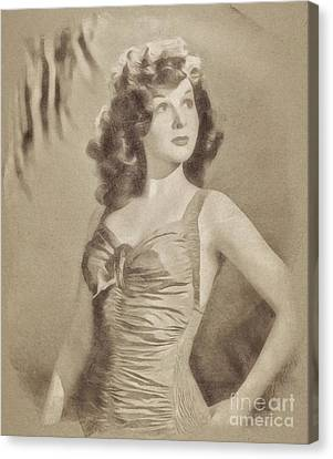Susan Hayward, Vintage Actress By John Springfield Canvas Print by John Springfield