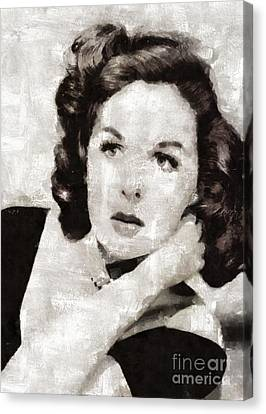 Susan Hayward, Vintage Actress By Mary Bassett Canvas Print by Mary Bassett