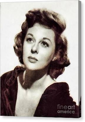 Susan Hayward, Vintage Hollywood Actress By John Springfield Canvas Print by John Springfield