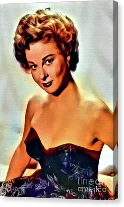 Susan Hayward, Vintage Hollywood Actress. Digital Art By Mb Canvas Print