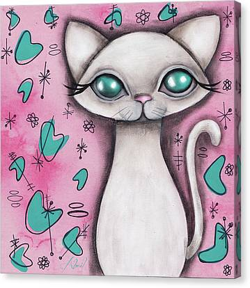Susan  Cat Canvas Print by Abril Andrade Griffith