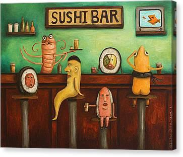 Sushi Bar Darker Tone Image Canvas Print