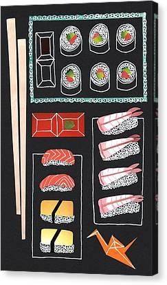 Sushi Canvas Print