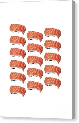 Sushi T-shirt Canvas Print by Edward Fielding