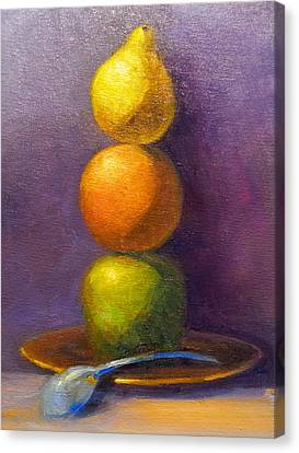 Suspenseful Balance Canvas Print