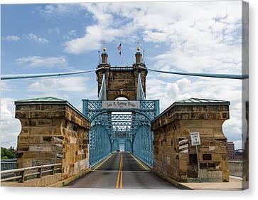Suspension Bridge Wide Angel Canvas Print by Scott Meyer