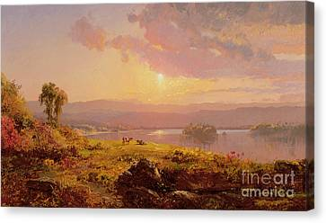1876 Canvas Print - Susquehanna River by Jasper Francis Cropsey