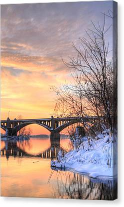 Susquehanna Sunrise Canvas Print by JC Findley