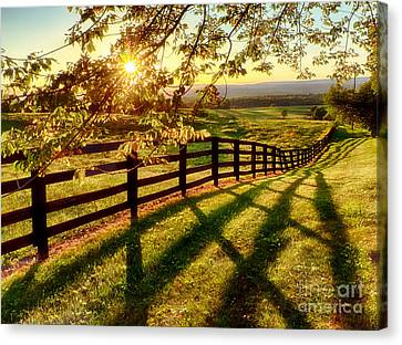 Horse Stable Canvas Print - Sussex County Sunset by Mark Miller