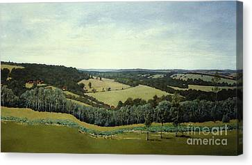 Canvas Print featuring the painting Sussex England - Landscape In Oils by Gillian Owen