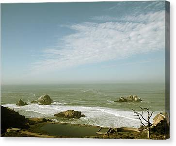 Sutro Baths San Francisco Canvas Print by Linda Woods